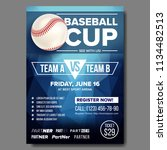 baseball poster vector....   Shutterstock .eps vector #1134482513
