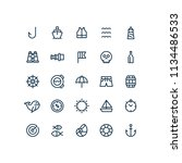 nautical sea outline icons | Shutterstock .eps vector #1134486533