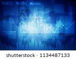 2d rendering stock market... | Shutterstock . vector #1134487133