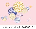 multicolored decorative balls.... | Shutterstock .eps vector #1134488513