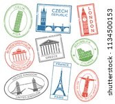 vintage travel stamps for... | Shutterstock .eps vector #1134500153