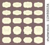 vintage frame labels. rectangle ... | Shutterstock .eps vector #1134500156