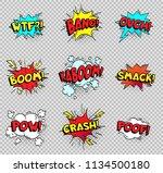 comic speech bubbles. cartoon... | Shutterstock .eps vector #1134500180