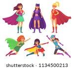 superheroes women characters.... | Shutterstock .eps vector #1134500213