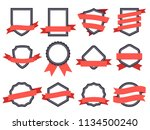 flat ribbon banner badge.... | Shutterstock .eps vector #1134500240
