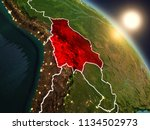 sunset above bolivia from space ... | Shutterstock . vector #1134502973