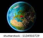 ukraine from orbit of planet... | Shutterstock . vector #1134503729