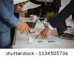 business group meeting... | Shutterstock . vector #1134505736
