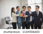 successful entrepreneurs and... | Shutterstock . vector #1134506603