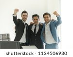 successful business group with... | Shutterstock . vector #1134506930