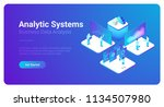 isometric business analytics... | Shutterstock .eps vector #1134507980
