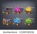 set of cartoon colorful... | Shutterstock .eps vector #1134518126