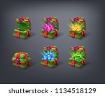 set of cartoon colorful... | Shutterstock .eps vector #1134518129