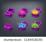 set of cartoon colorful... | Shutterstock .eps vector #1134518150