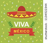 viva mexico independence day of ...   Shutterstock .eps vector #1134522344