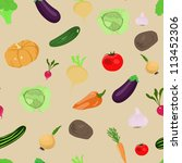 vector seamless pattern with... | Shutterstock .eps vector #113452306