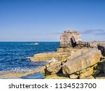 pulpit rock  a quarrying relic... | Shutterstock . vector #1134523700