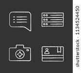 ui ux chalk icons set. speech...