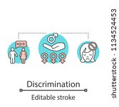 sex discrimination concept icon.... | Shutterstock .eps vector #1134524453