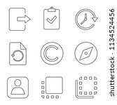 ui ux linear icons set. exit ...