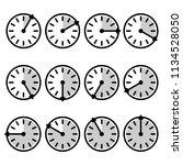 timer sign  icon set. vector...   Shutterstock .eps vector #1134528050