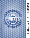 facility blue badge with...   Shutterstock .eps vector #1134531368