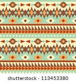 seamless aztec style pattern | Shutterstock .eps vector #113453380