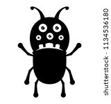 a monster with ant shape... | Shutterstock .eps vector #1134536180