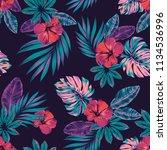 vector seamless tropical... | Shutterstock .eps vector #1134536996