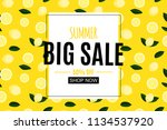 abstract summer sale background ... | Shutterstock .eps vector #1134537920
