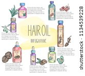 infographic with natural oil... | Shutterstock .eps vector #1134539228