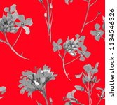 wild flowers grey watercolor on ...   Shutterstock . vector #1134546326