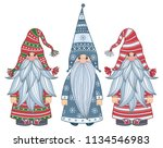 vector   gnomes cartoons ... | Shutterstock .eps vector #1134546983
