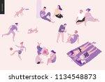 people park festival picnic  ... | Shutterstock .eps vector #1134548873