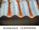 background texture of the roof... | Shutterstock . vector #1134550406