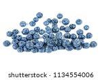 pile of fresh bog billberries... | Shutterstock . vector #1134554006