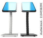 lcd screen stand. trade show... | Shutterstock . vector #1134558290
