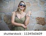 plus size european or american... | Shutterstock . vector #1134560609