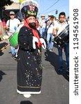 san pedro atocpan  mexico...   Shutterstock . vector #1134561908
