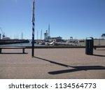 dutch harbor  harlingen ... | Shutterstock . vector #1134564773