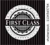 first class silver emblem | Shutterstock .eps vector #1134565754