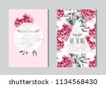 elegant cards with decorative... | Shutterstock .eps vector #1134568430
