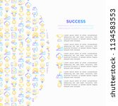 success concept with thin line... | Shutterstock .eps vector #1134583553
