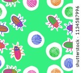 abstract shapes beetles ...   Shutterstock . vector #1134587996