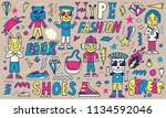 street wear hype fashion funny... | Shutterstock .eps vector #1134592046