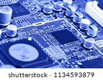 electronic circuit board close... | Shutterstock . vector #1134593879