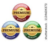 three golden premium quality... | Shutterstock .eps vector #1134604373