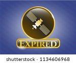 golden emblem or badge with... | Shutterstock .eps vector #1134606968