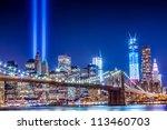 911 Commemoration Lights Over...