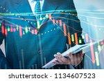 financial data of stock market... | Shutterstock . vector #1134607523